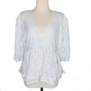 Free People Womens Blouse Small Sweeter Side V New